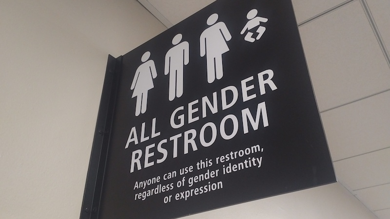 All gender restroom: anyone can use this restroom, regardless of gender identity or expression
