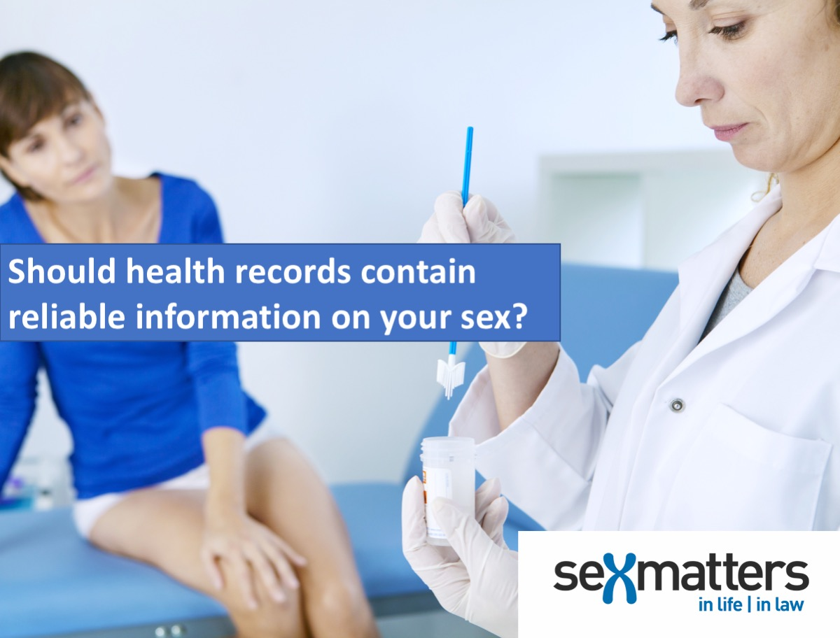 Should health records contain reliable information on sex?