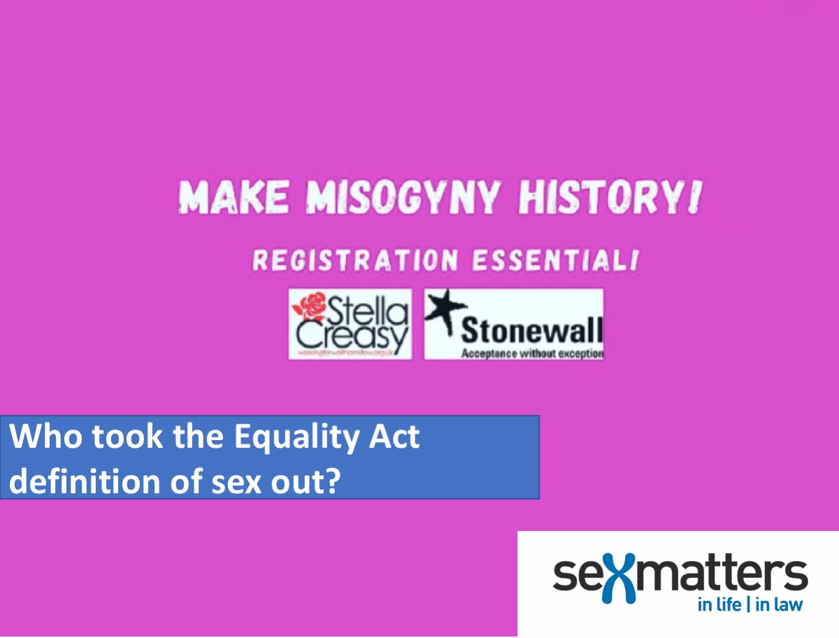 Make Misogyny History workshop with Stella Creasy and Stonewall logo