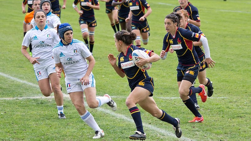 Italy vs Spain during 2013 Women's European Qualification Tournament, by Carlos Delgado, Creative Commons licence