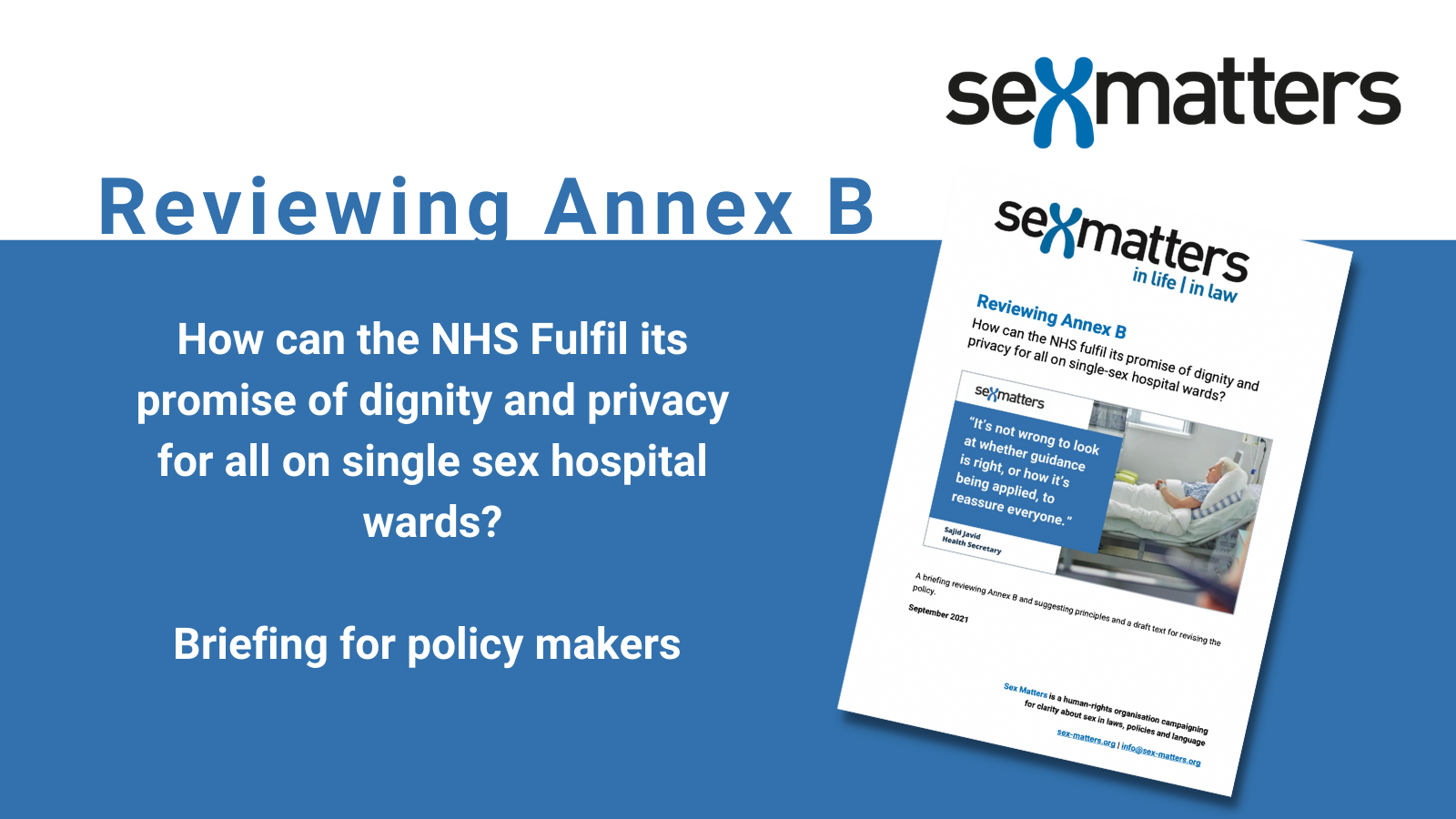 Reviewing Annex B: Briefing for policy makers