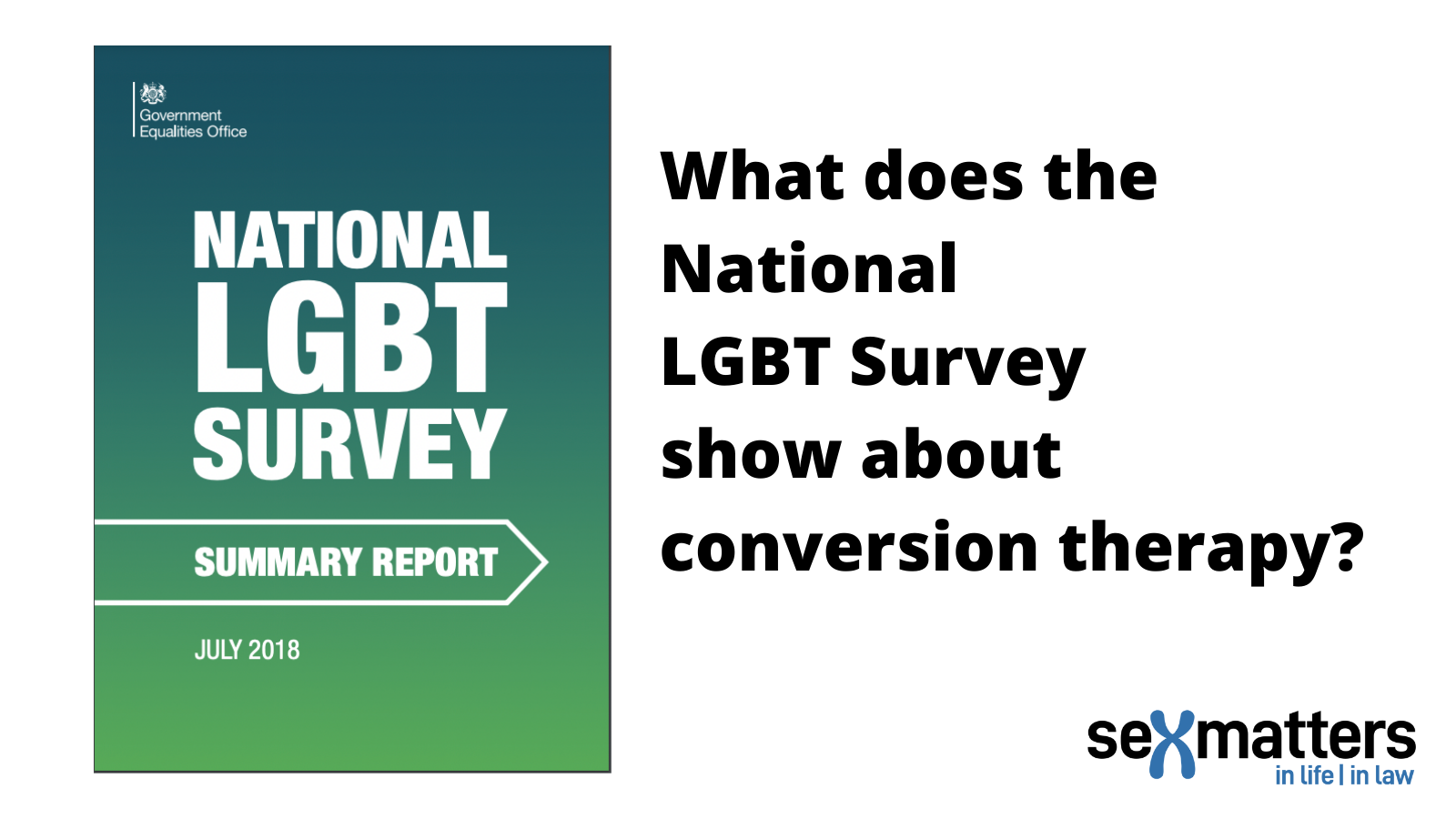 What does the National LGBT Survey Show about Conversion Therapy