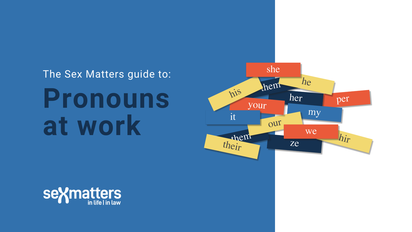 The Sex Matters guide to: Pronouns at work
